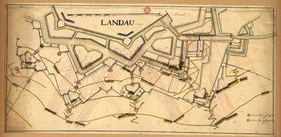 [Planta de uma das frentes da fortificação de Landau (Baviera)]
