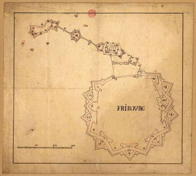 [Planta das fortificações de Fribourg, Suíça]