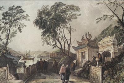 A capela do templo A-Ma = Chapel in the Great Temple ( A-Ma Temple): Macau, circa 1835