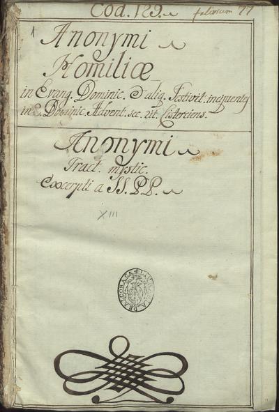 [Homiliarium per circulum anni.. Liber scintillarum