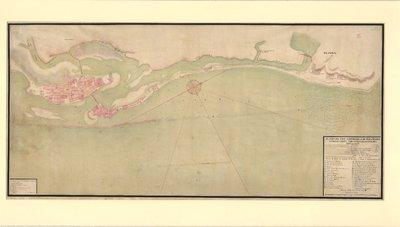 Plano da Villa do Reciffe de Pernãbuco, e parte da costa athe a ponta da cid.e d'Olinda