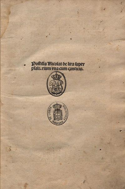 Postilla super Psalterium et Cantica Canticorum