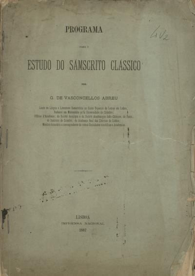 Programa para o estudo do sámscrito clássico
