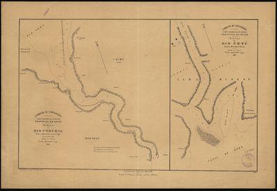 Esboço do rio Corubal, entre o rio Geba e o porto Ugui; Esboço do rio Tetú: Provincia da Guiné: Costa Occidental dªAfrica