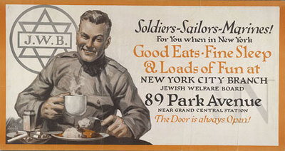 Soldiers - sailors - marines!: for you when in New York good eats, fine sleep & loads of fun at New York City branch - Jewish Welfare Board 89 Park Avenue... the door is always open!