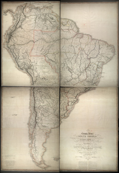Colombia Prima or South America, in which it has been attempted to delineate the extent of our knowledge of that continent extracted chiefly from the original manuscript maps to His Excellency the late Chevalier Pinto likewise from those of João Joaquim da Rocha, João da Costa Ferreira, El Padre Francisco Manuel Sobrevida &c. and from the most authentic edited accounts of those countries