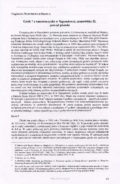 Grób 7 z cmentarzyska w Szpondowie, stanowisko II, powiat płoński