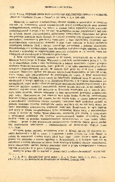 Archeologia Polski. T. 12 (1967) Z. 1, Recenzje i omówienia