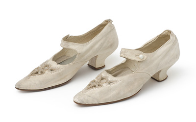 Shoes. Bought in Belgrade (?). Worn in Niš in 1911, at the wedding of Danica Paligorić from Kragujevac and Nikola Jorgovanović, an infantry major