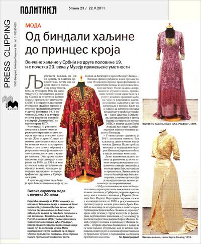 Od bindali haljine do princes kroja