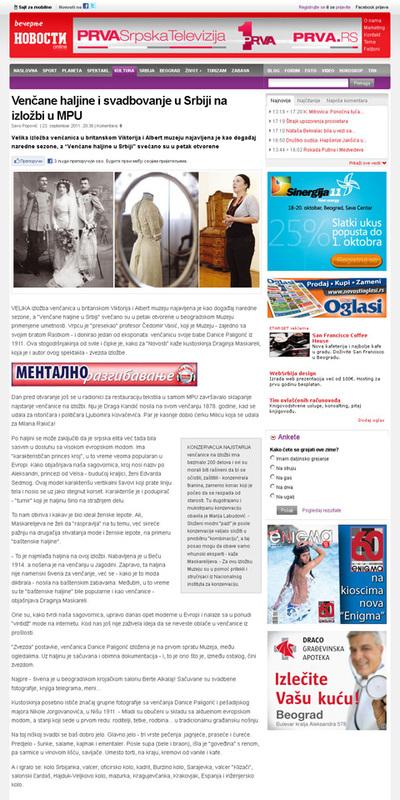 Venčane haljine i svadbovanje u Srbiji na izložbi u MPU