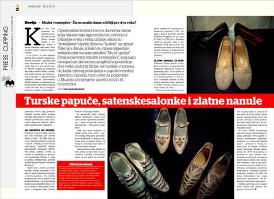 Turske papuče, satenske salonke i zlatne nanule