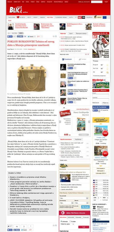 Poklon Romanovih: Tašnica od suvog zlata u Muzeju primenjene umetnosti