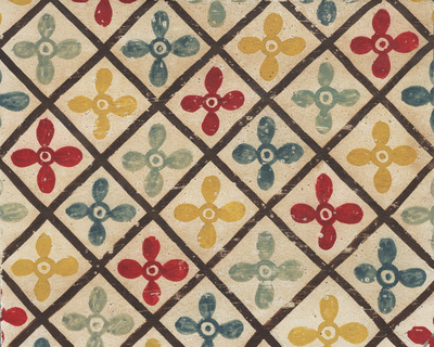 Ornament from the textile from the composition, dome space, north, fourth zone