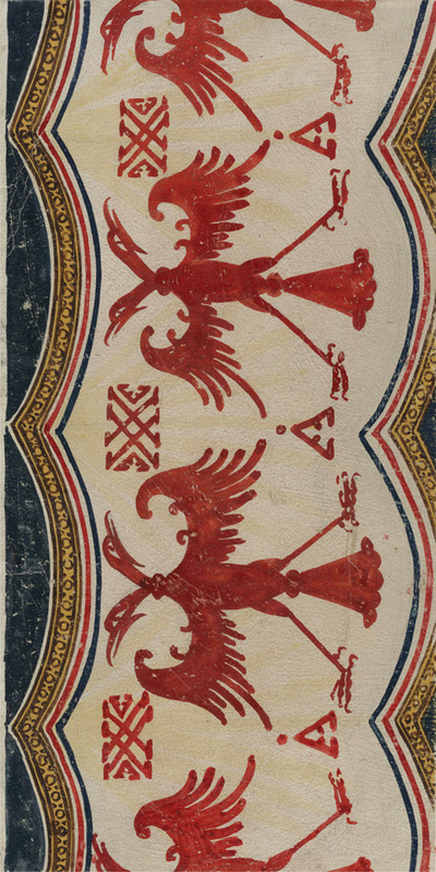Ornament from the textile, nartex, western wall, lower zone