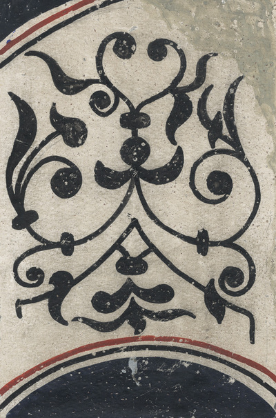 Ornament from the textile, diaconicon, northern wall, lower zone