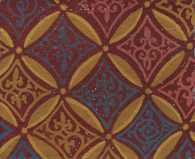 Ornament from the textile from the scene of the Assumption of the Virgin