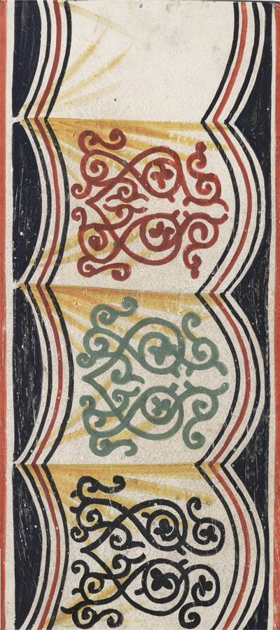 Ornament from the textile, apse, lower zone