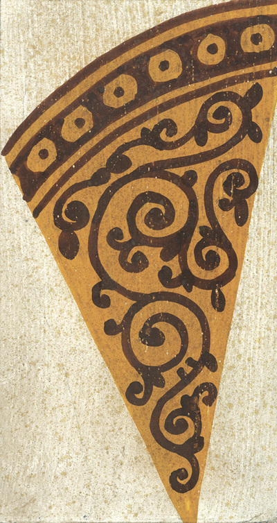 Ornament from the costume of an archbishop, naos, western wall