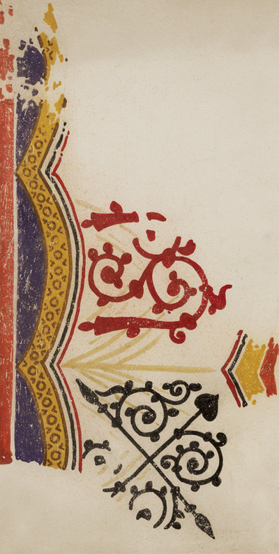 Ornament from the textile, altar, ground zone