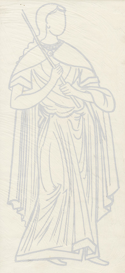 Costume of a female figure from the scene of the Presentation of Mary, naos, second zone