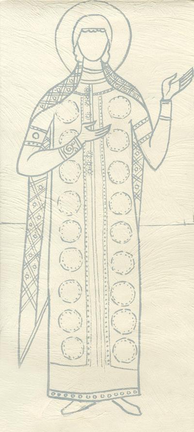 Costume of a female figure