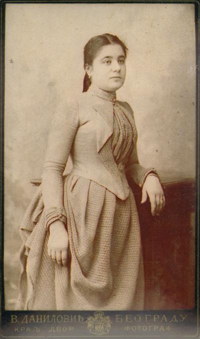 Portrait of Sofija Simić; digitally printed copy