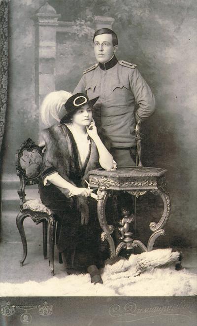 Portrait of Danica and dr Stavra Atanasijević; digitally printed copy+J384