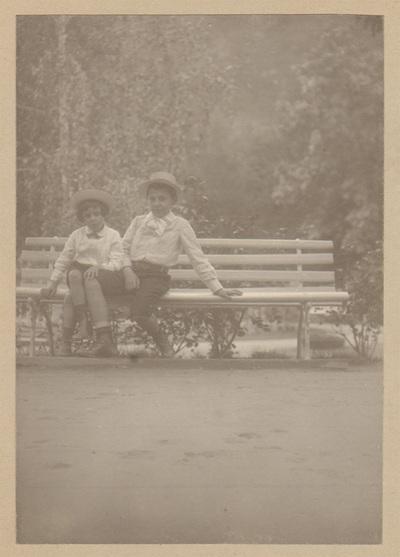 Portrait of two boys
