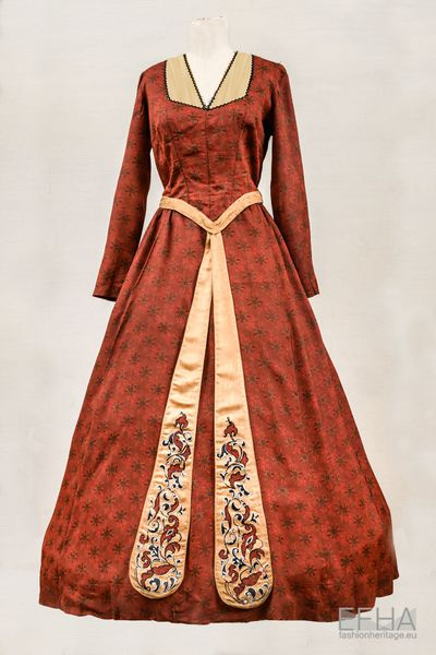 Ball Gown of a Georgian Lady.