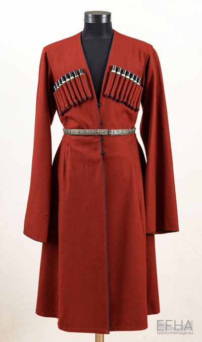 Georgian traditional dress Chokha of Chabua Amirejibi (1921-2013)
