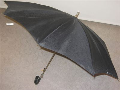 Zwarte paraplu met mat-glanzend motief