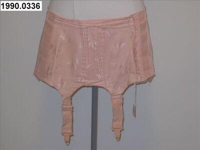 Jarretelgordel  in roze damast