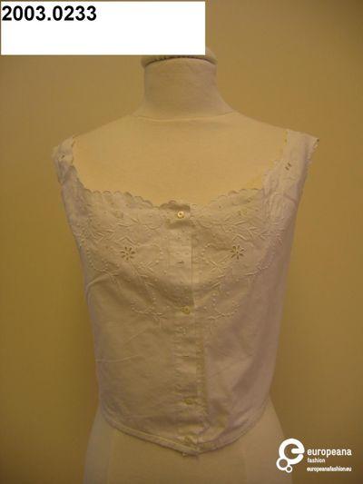 Cache-corset in witte katoen met open borduurwerk