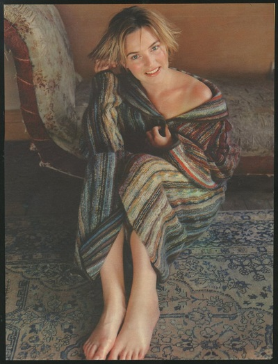 Archivio Missoni - Actress Kate Winslet in a Missoni at Home
