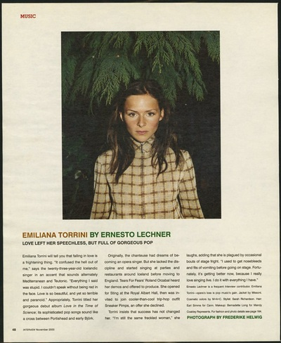 Archivio Missoni -  Singer Emiliana Torini wears a Shirt b Missoni