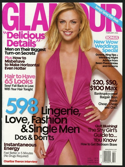 Archivio Missoni -  Charlize Theron on the Cover ears a cotton dress by Missoni