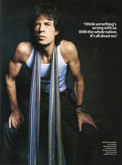 Archivio Missoni - Mick Jagger with a scarf by Missoni