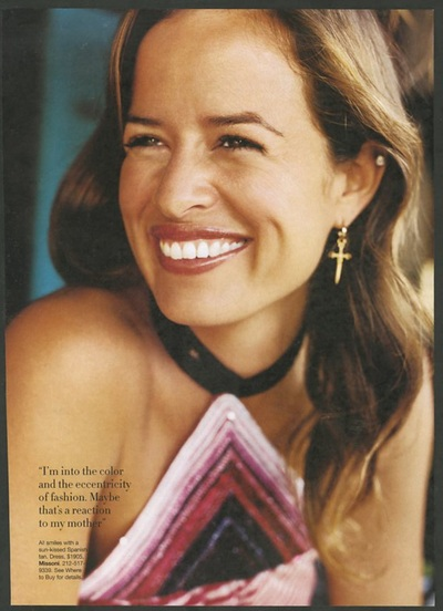 Archivio Missoni - Jewelery Designer Jade Jagger dressed in Missoni