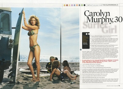 Archivio Missoni - Carolyn Murphy in Swimsuit by Missoni