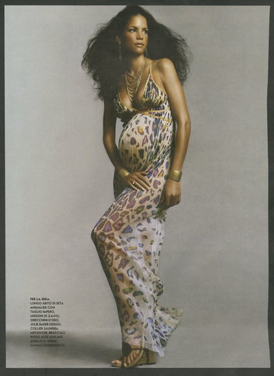 Archivio Missoni - Veronica Webb in a long Silk Dress by Missoni