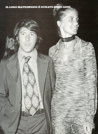 Archivio Missoni - Anne Byrne wife of Dustin Hoffman in a long Dress by Missoni