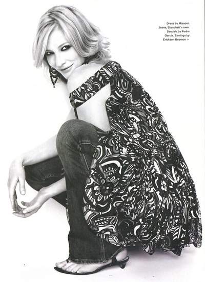 Archivio Missoni - Actress Cate Blachett i a printed Dress by Missoni