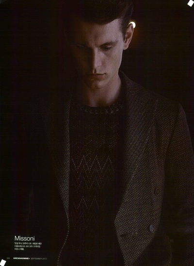 Archivio Missoni - Editorial page from Arena Homme Plus, Corea
