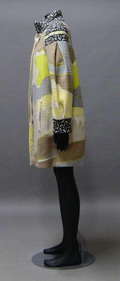 Cappotto in lana stampato