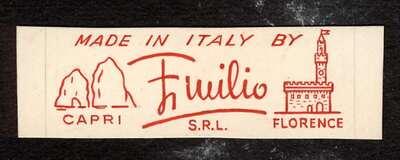 Etichetta Emilio Capri Florence.