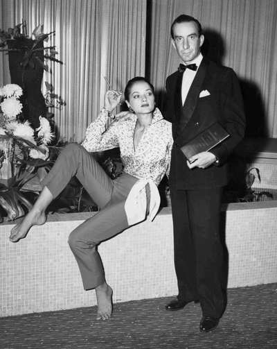 Il Marchese Emilio Pucci con la modella Ivy Nicholson.