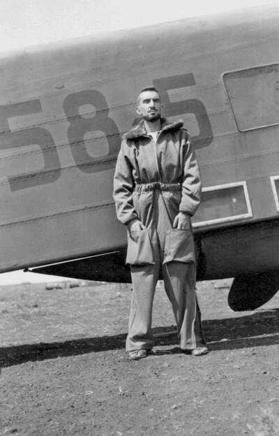 Il Tenente Emilio Pucci, pilota dell'Aviazione Italiana.