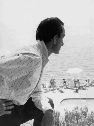 Il Marchese Emilio Pucci a Capri.