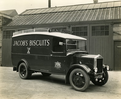 Side view of an Albion van
